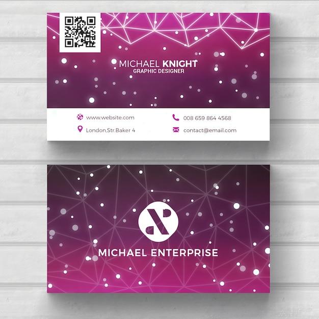 Modern tech business card Free Psd