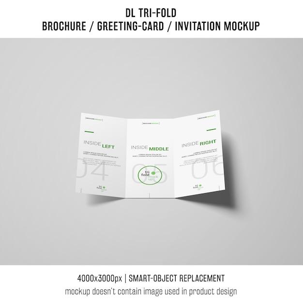 Modern trifold brochure or invitation mockup Free Psd