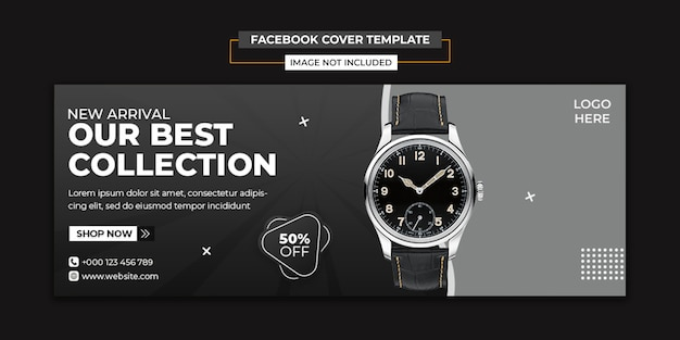 Modern watch social media and facebook cover template Premium Psd