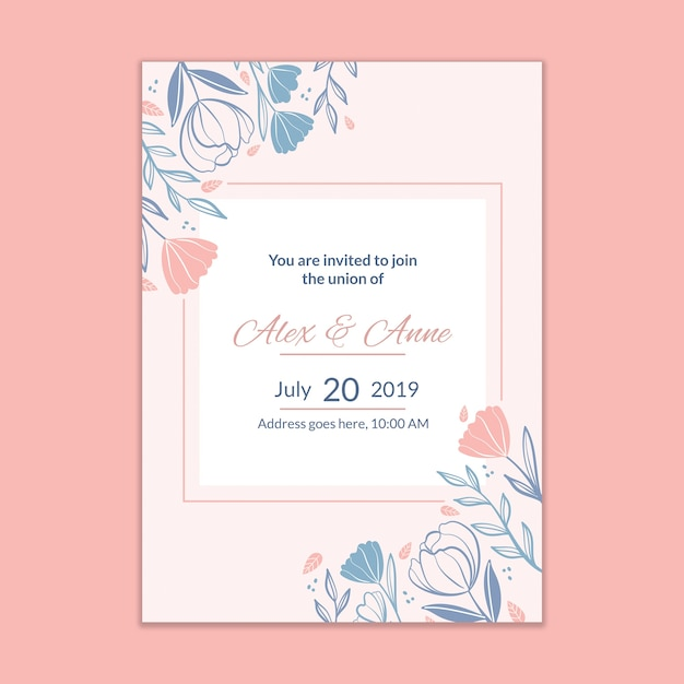 Modern Wedding Invitation Mockup Psd File Free Download
