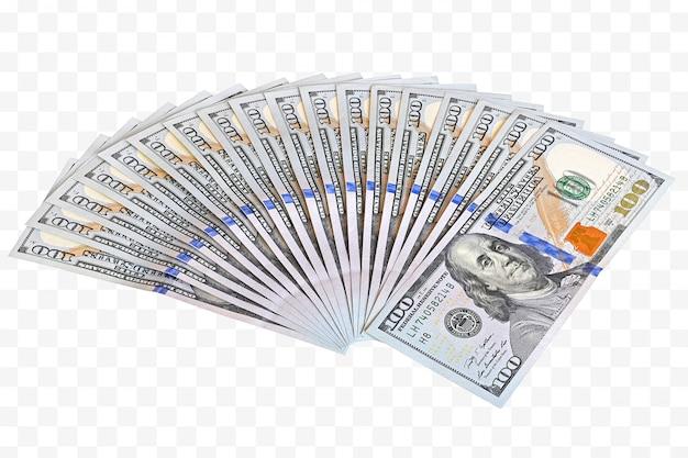 Money in fan shape Premium Psd