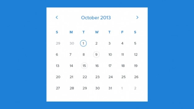 Calendar Web Template Free Download : Monthly calendar template psd file free download