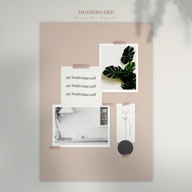 Moodboard с украшениями для дома Бесплатные Psd