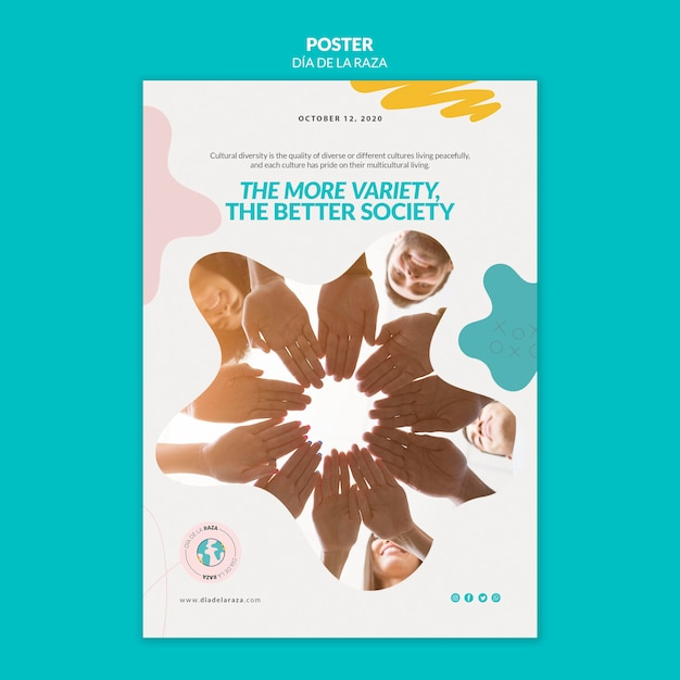 More variety, better society poster template Premium Psd