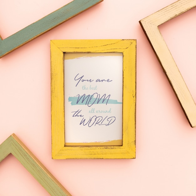 Mother's day mockup frame Free Psd