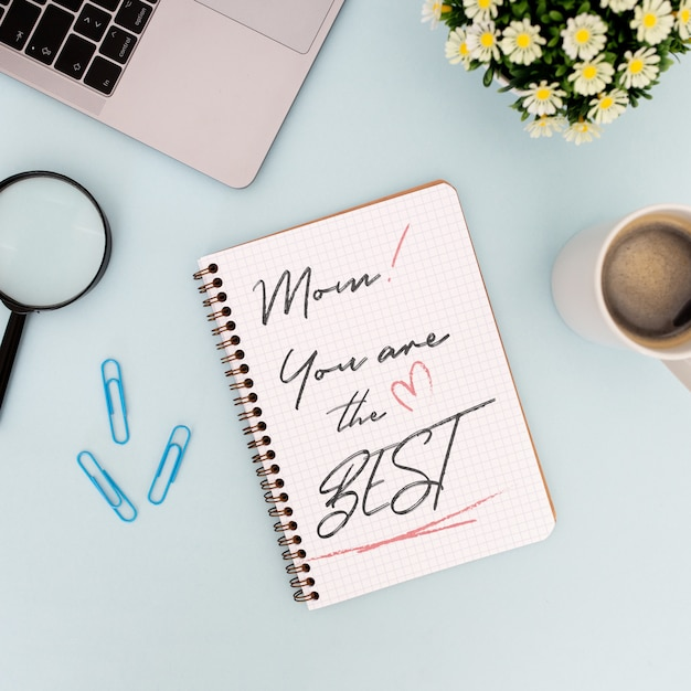 Mother's day mockup notebook Free Psd