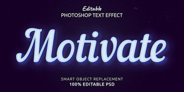 編集可能なphotoshopテキストスタイル効果をやる気にさせる Premium Psd