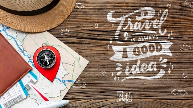 Motivational quote for traveling Free Psd