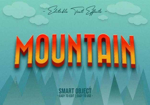 Mountain-text-style-effect Premium Psd