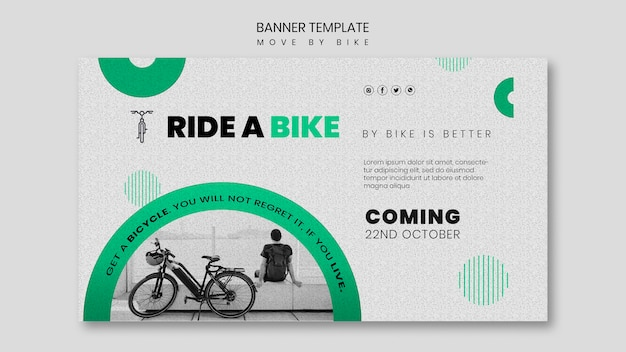 Move by bike banner theme Free Psd