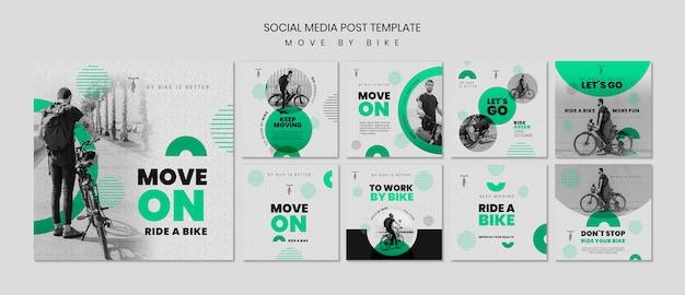 Sposta in bici i post sui social media Psd Gratuite