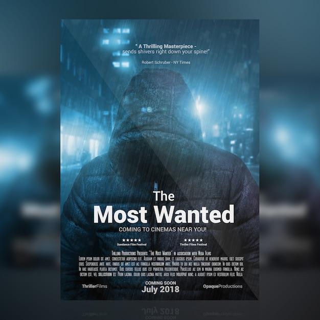 Movie Poster Mockup Premium Psd