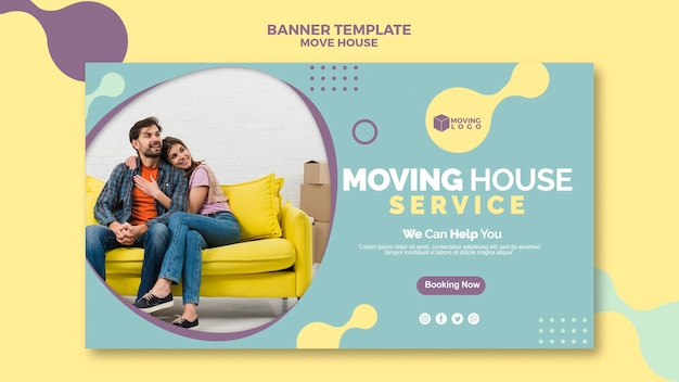Moving house service banner Free Psd