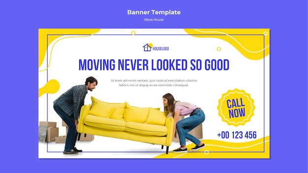 Moving never looked so good banner Free Psd