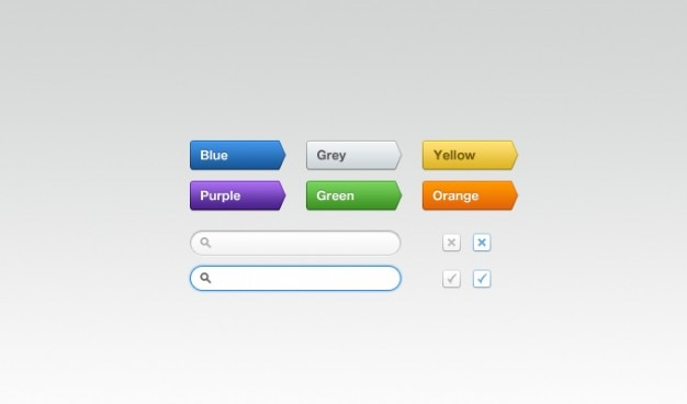 Multi-coloured buttons Free Psd