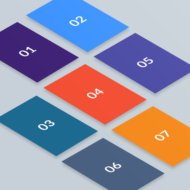 Multi screen isometric web mockup Premium Psd
