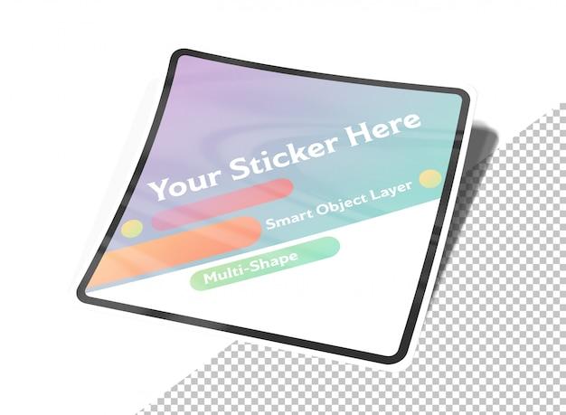 Multi-shape sticker mockup squared version Premium Psd
