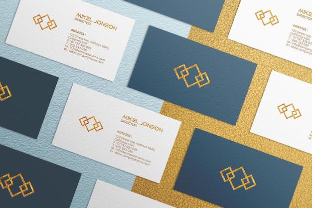 Шаблон макета визитки multi styles Premium Psd