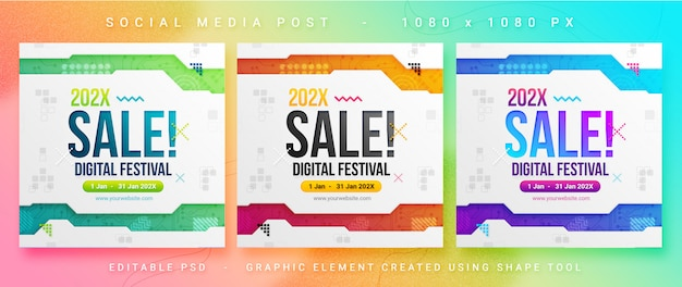 Multipurpose sales social media post Premium Psd