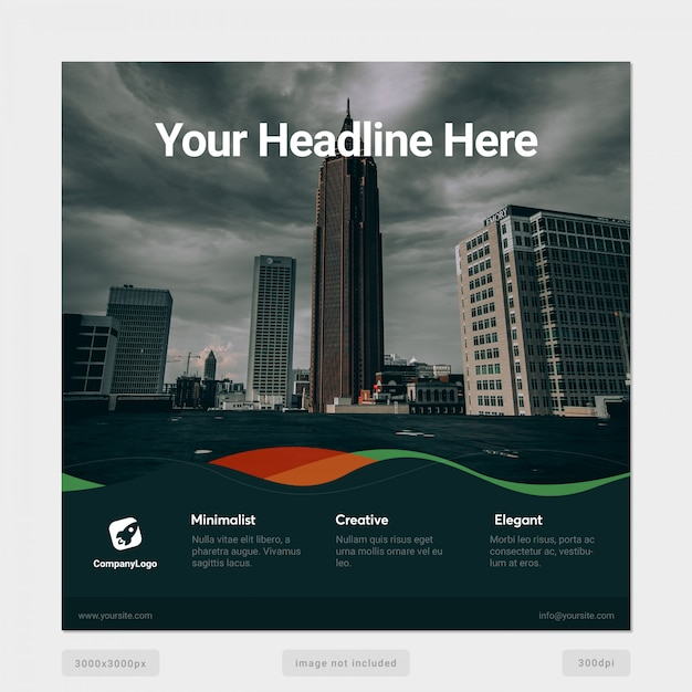 Multipurpose social media banner template Premium Psd