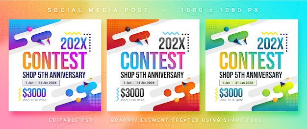 Multipurpose social media contest post Premium Psd