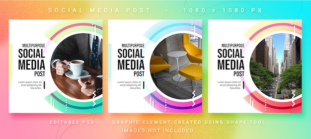 Multipurpose social media post psd template Premium Psd