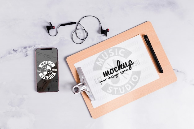Музыкальный буфер обмена и мобильный Бесплатные Psd