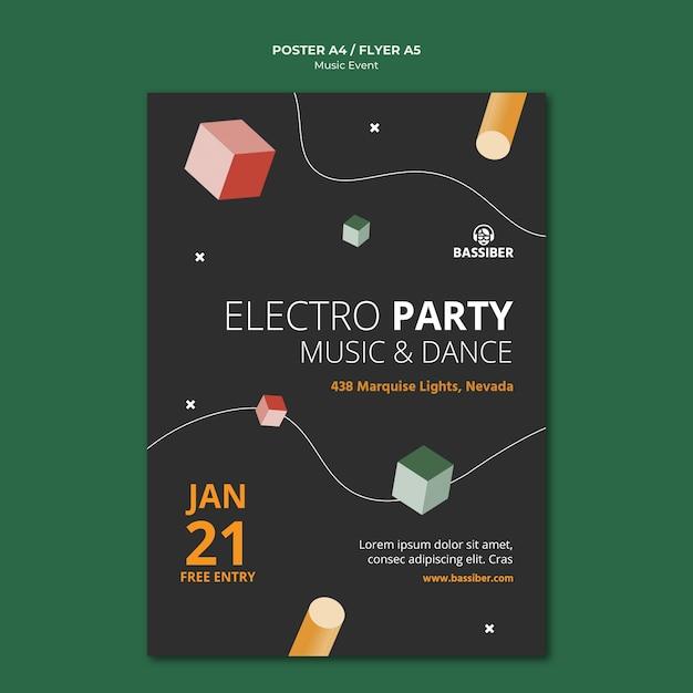 음악 이벤트 포스터 템플릿 무료 PSD 파일
