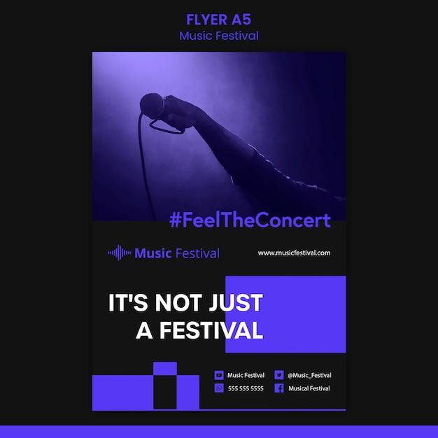 음악 축제 전단지 서식 파일 무료 PSD 파일