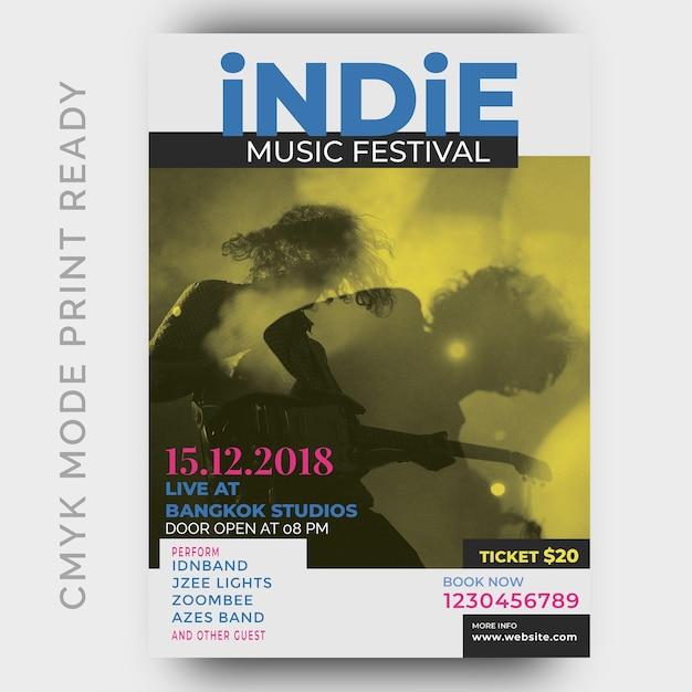 Music festival poster Premium Psd