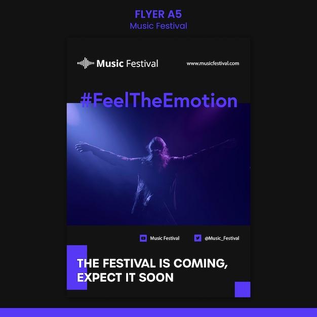 음악 축제 템플릿 전단지 무료 PSD 파일