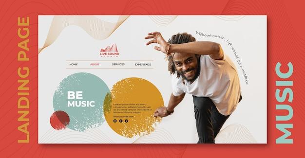 음악 방문 페이지 템플릿 무료 PSD 파일