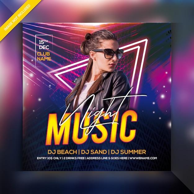 Music night party flyer Premium Psd
