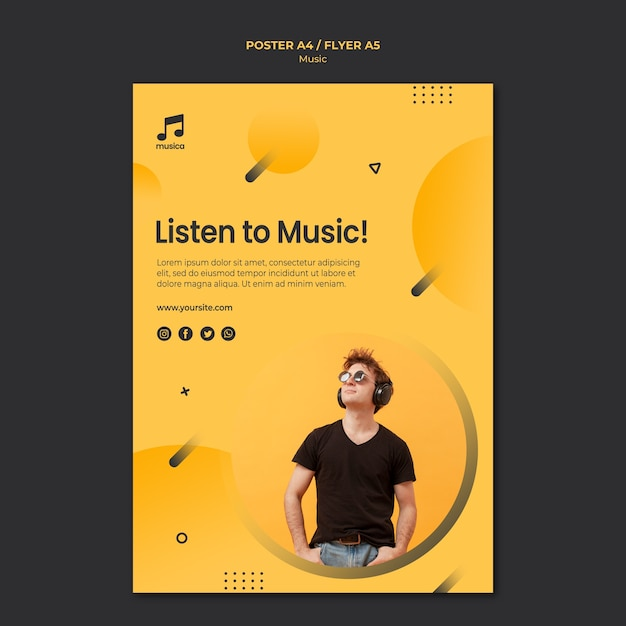 Music poster template | Free PSD File