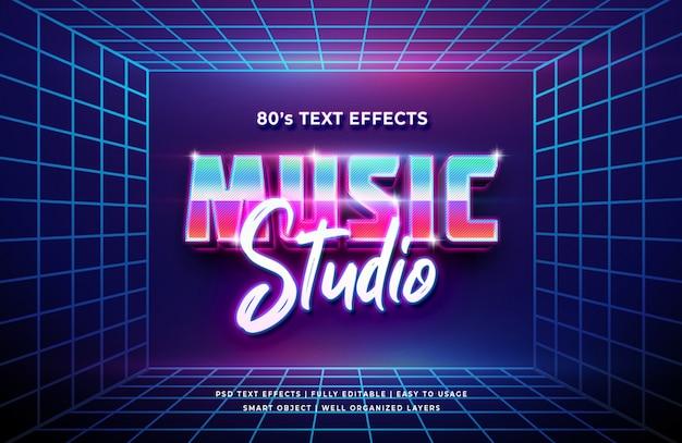 Музыкальная студия 3d text style effect Premium Psd