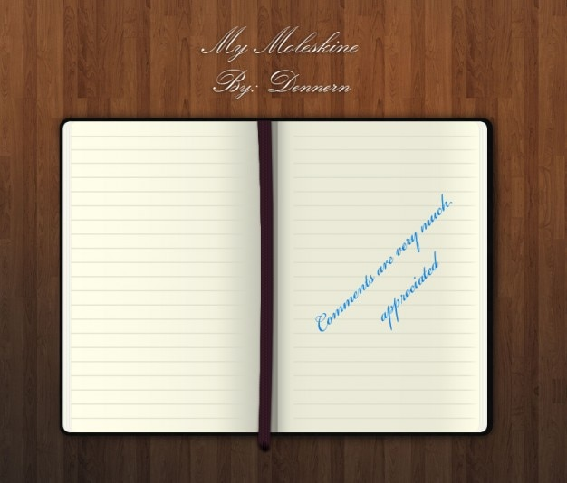 My moleskine psd file free download for Moleskine book journal template