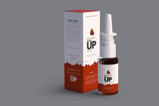 Nasal spray mock up Premium Psd
