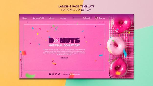 全国ドーナツの日ランディングページスタイル 無料 Psd