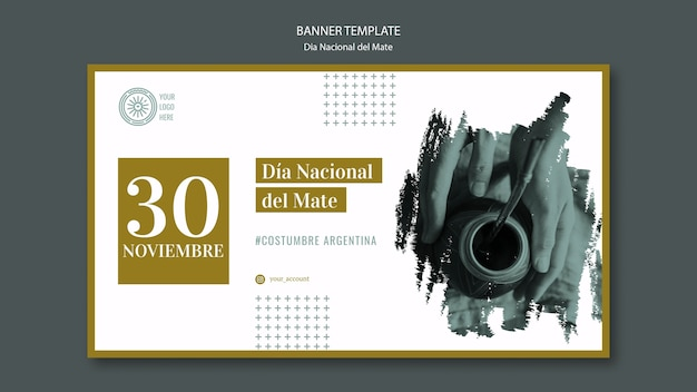 National mate drink banner template Free Psd