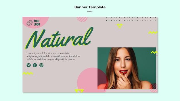 Modello web banner di bellezza naturale Psd Gratuite