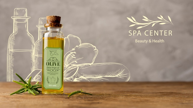 Natural cosmetic products at spa for treatment Free Psd