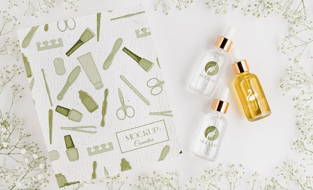 Natural cosmetics concept mock-up Premium Psd