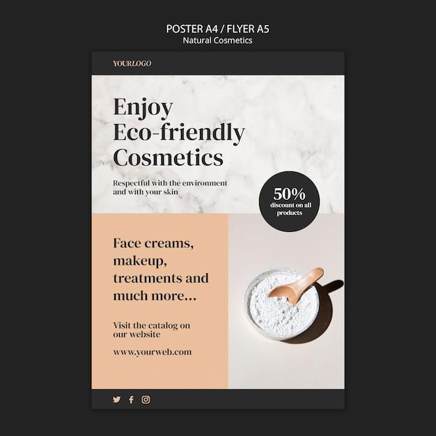 Шаблон флаера натуральной косметики Бесплатные Psd