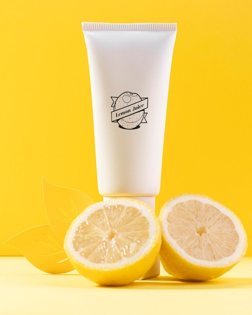Натуральная косметика с лимонным соком Бесплатные Psd