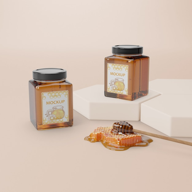 Natural honey product on table Free Psd