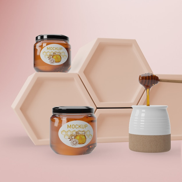 Natural honey product Free Psd