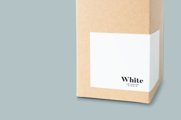 Natural paper box packaging mockup Free Psd