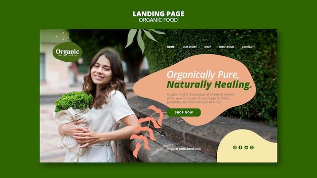 Pagina di destinazione naturalmente curativa Psd Gratuite