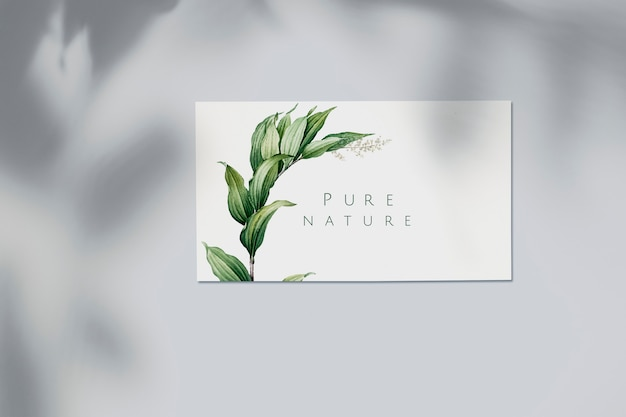 Nature business card mockup Free Psd