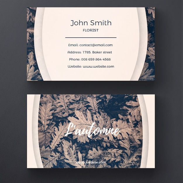 Nature business card template psd file free download nature business card template free psd reheart Images